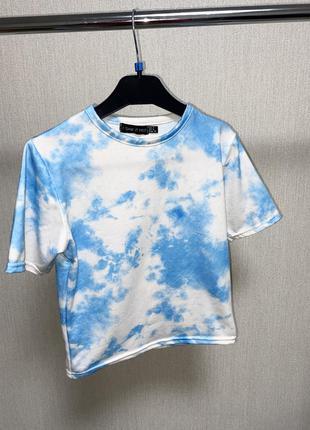 Кроп топ , футболка в небесный принт