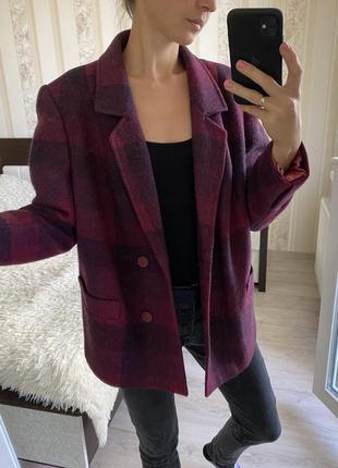 Шерстяное пальто шерстяной пиджак