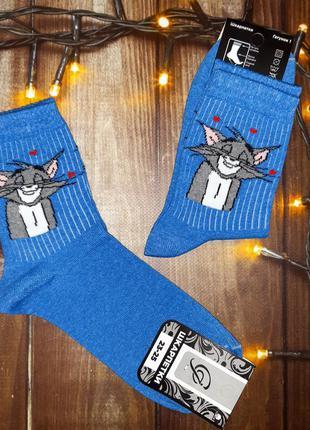 """Шкарпетки з принтом """"том і джері"""""""