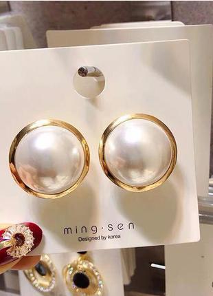 Cерьги сережки винтаж винтажные ретро под золото новые