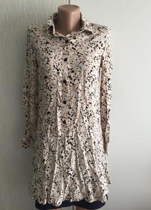 Рубашка платье принт primark