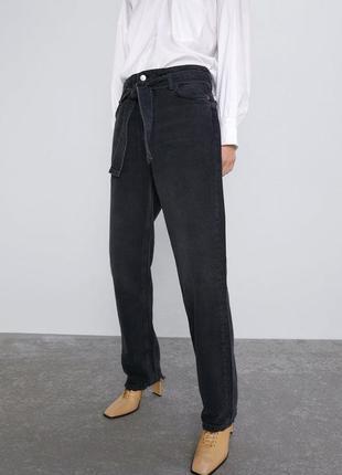Джинсовые штаны/джинсы zara/высокая посадка