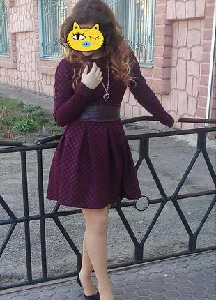 Платье бордовое 42-44