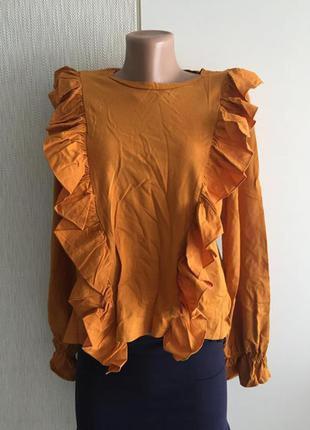 Водолазка блузка с рюшами primark