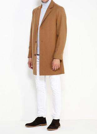 Базовое короткое пальто цвета camel