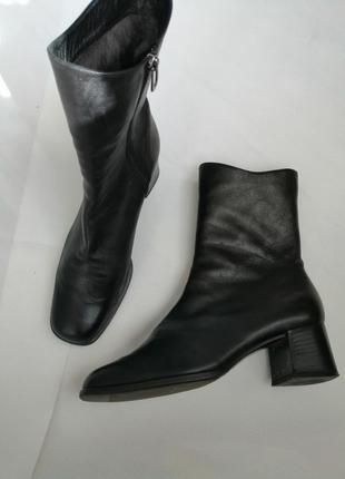 Ботинки кожа цигейка италия