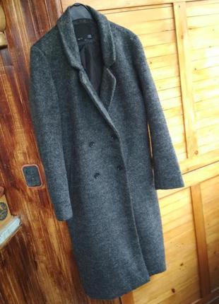 Актуальне двубортне пальто міді оверсайз демісезон
