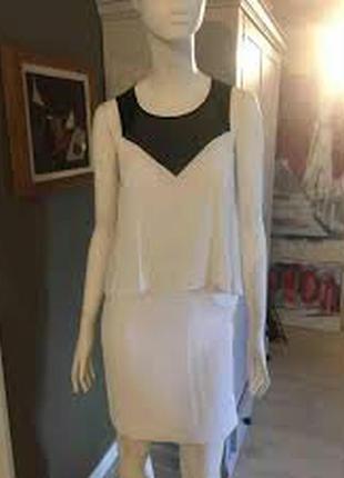 Sandro paris платье люкс сегмента черный-белый