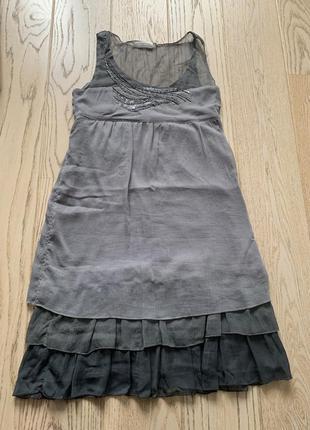 Легкое летнее нарядное платье из шифона