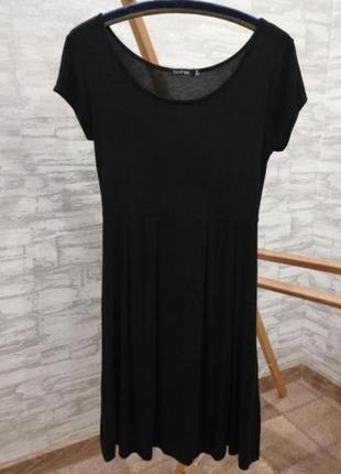 Чёрное платье boohoo