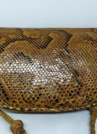 Винтажная кожаная сумочка. верх- змея