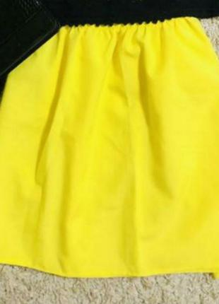 Юбка жёлтая