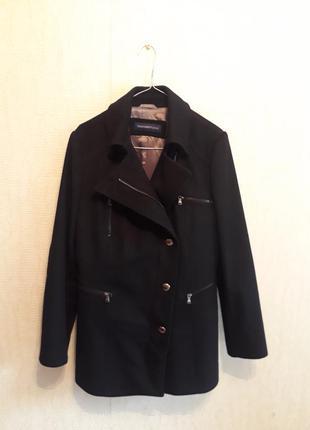 Шикарное шерстяное пальто косуха trussardi jeans размер 44