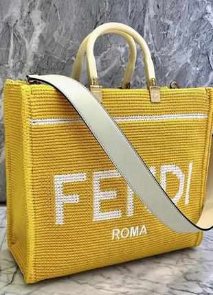 Шикарная подиумная сумка с кожаным ремнём шопер tote bag