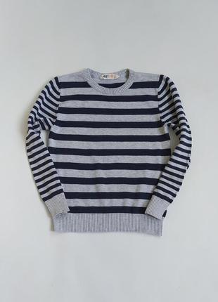 Котоновый свитерок в полоску фирмы h&m на 8 лет