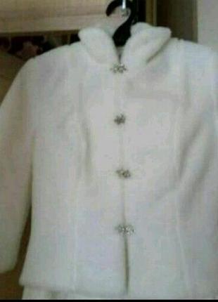 Свадебная шубка, цвета айвори