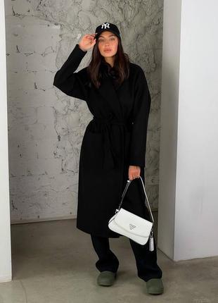 Черное пальто кашемир