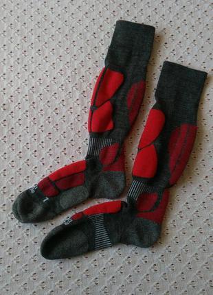 Термогольфи лижні 37-38 з мериносовою вовною компресійні термо гольфи лыжные носки высокие с шерстью