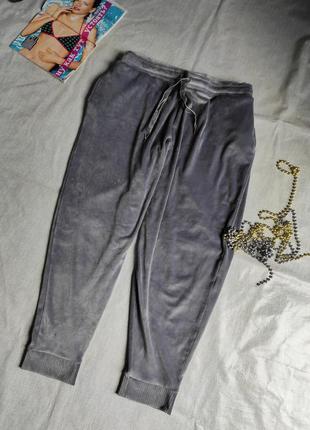Велюровые плюшевые штаны uk 22