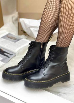 🍂 демисезонные женские ботинки dr. martens jadon black