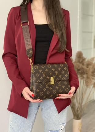 Классическая женская сумка, коричневая сумка через плечо