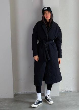 Пальто стеганное утепленное