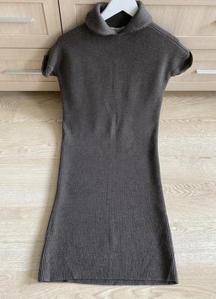 Супер стильное вязаное платье миди из шерсти nicole farhi