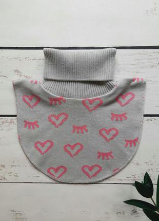 Манишка для девочки шарф воротник снуд