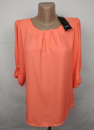 Блуза новая шикарная коралловая f&f uk 6/34/xs