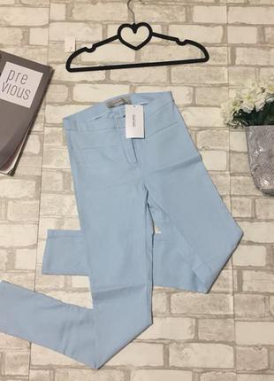 Модные стрейчевые брюки,высокая талия,от бренда zara