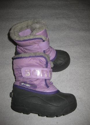 17,5 см стелька, канадские сноубутсы sorel, зимние сапоги на мороз