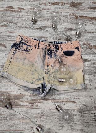 Шорты джинсовые с высокой посадкой