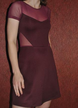 Платье со вставками из сеточки новое