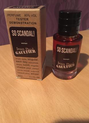 Парфюмированная вода jean paul gaultier so scandal