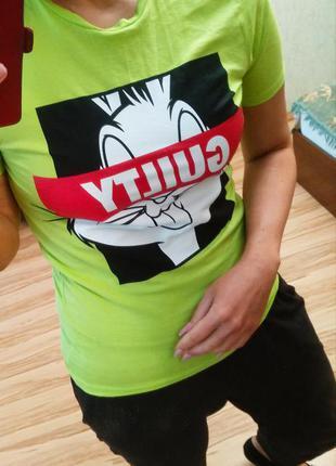 Новая крутая футболка мультяшка , s-m