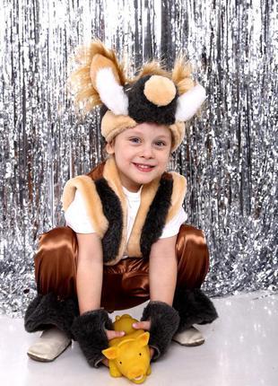 Детский маскарадный костюм дикий кабанчик свинка для мальчика