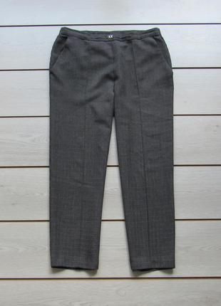 Укороченные брюки с прошитыми стрелками в мелкую клетку высокая посадка от marks & spencer