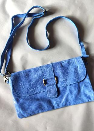 Шикарная кожаная сумка-клатч genuine leather.