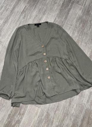 Блузка свободного кроя primark с деревянными пуговицами