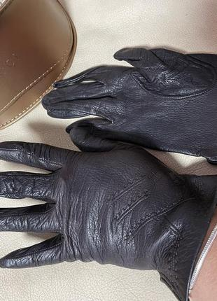 Стильные перчатки тонкая кожа