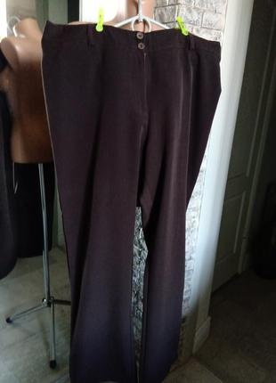 Гладкие брюки,полунатуральный состав, р.18-20