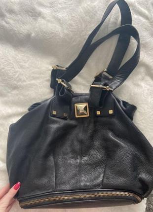 Огромная кожаная брендовая  сумка gianfranco ferre  gf ferre