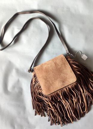 Эффектная сумка с бахромой new look.