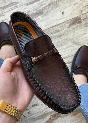 Мокасини кожа туфли