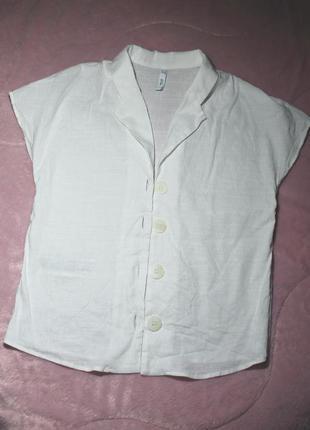 Блуза mango віскоза та льон р.s