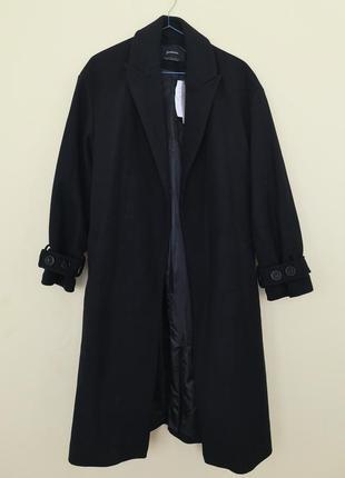 Пальто на подкладке миди плащь куртка базовое прямой покрой длинное
