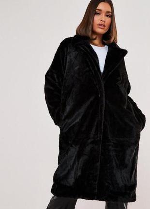 Меховое пальто missguided,uk8