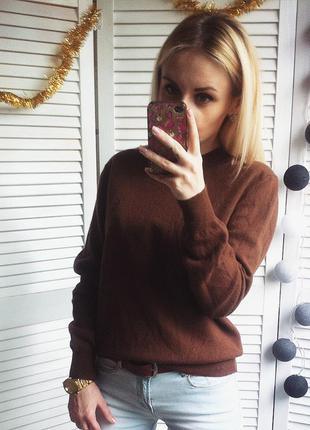 Шоколадний светрик з натуральної шерсті меріноса!