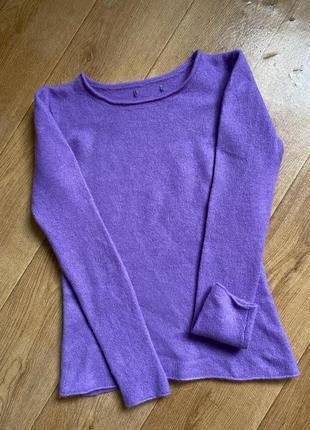 Воздушный лавандовый  свитер кашемир 100%