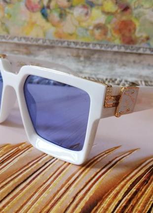 Модные белые брендовые солнцезащитные очки унисекс millionaire
